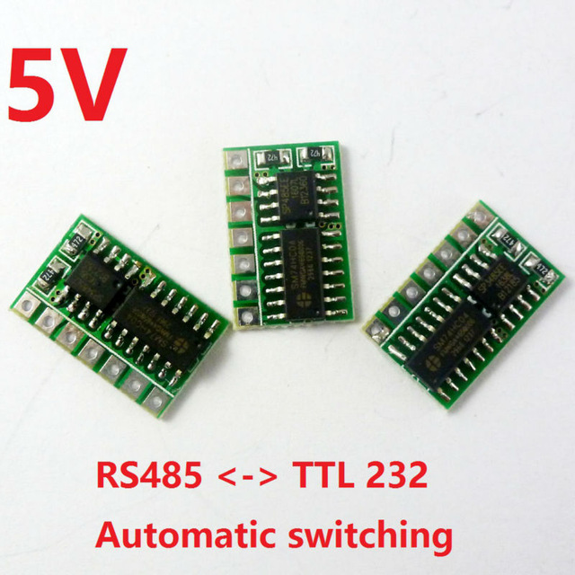 3pcs 5V mini Automatic switching RS485 to TTL 232 Board RS232 to 485 Module UART Serial port SP485 Repl MAX485