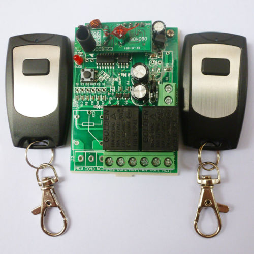 2PCS Wireless Remote Relay RF Control Switch System 2 CH Receiver 433MHZ DC24V