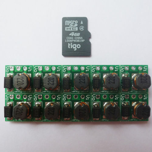 10P SMD Super Small Step Up Board DC DC 0.9-5 V to 5V Battery Voltage Regulator