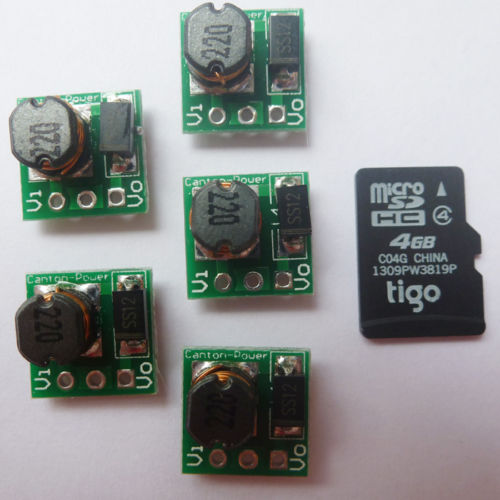 5P SMD No Pin Mini Boost Up Board DC 0.9-5V to DC 5V Battery Volt Regulator