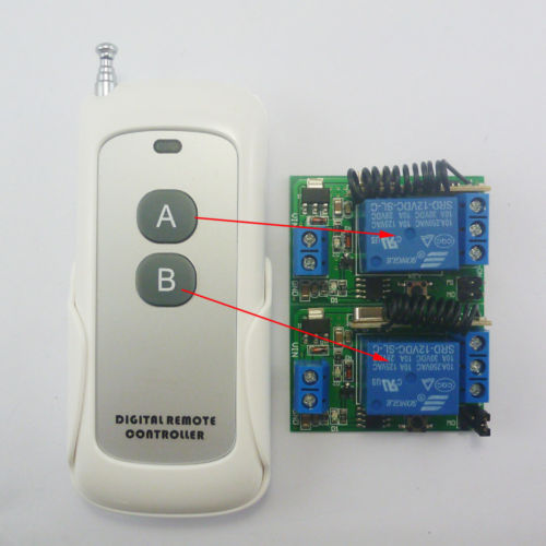 DC12V 433MHz RF Wireless Remote On/off Switch + Delay Time Timer Controller Link
