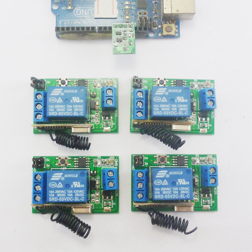 433M 1 Transmitter module & 4 Wireless Relay Controller for Arduino UNO MEGA2560