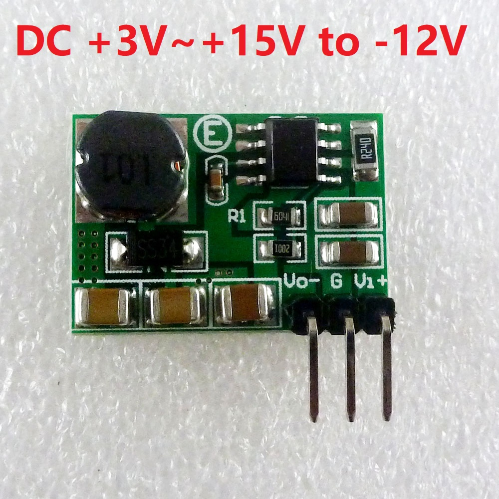 220mA 3-15V to -12V DC-DC Step-up & Step-down +/- Voltage Converter Module Board for LCD Operational Amplifier RS485 RS232