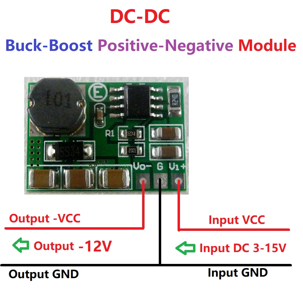 220mA 3V 3.3V 3.7V 5V 6V 9V 12V 15V to -12V DC-DC Step-up & Step-down +/- Voltage Converter Module Board for LCD RS485 RS232