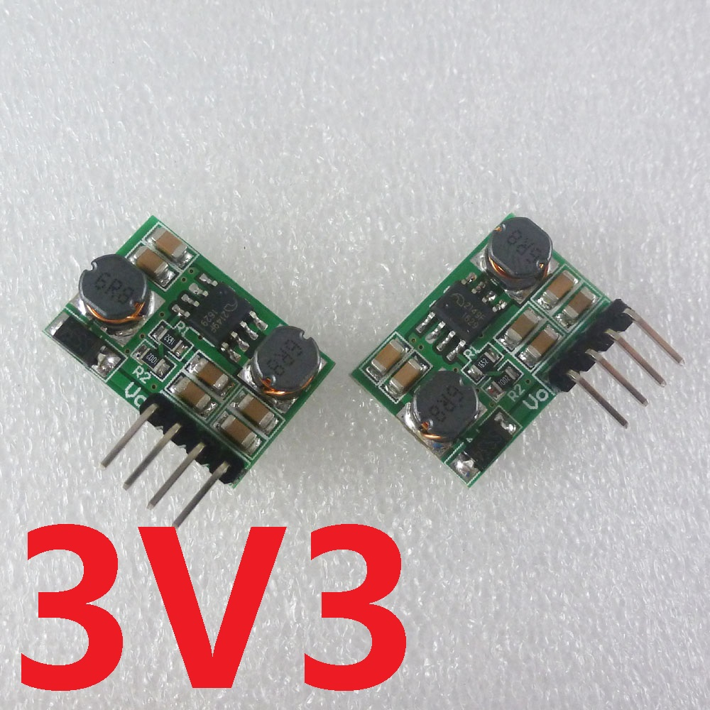 2 in 1 DC 1.5V/2.5V/3V/3.7V/5V to 3.3V DC-DC Boost-Buck Converter Module for Wifi Bluetooth ESP8266 18650 nrf24l01