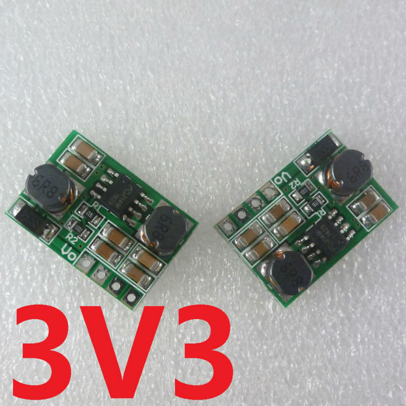 2PCS Auto Buck-Boost DC DC Converter Voltage regulator module 0.9-6V to 3.3V for 18650 Solar Charger li lion battery