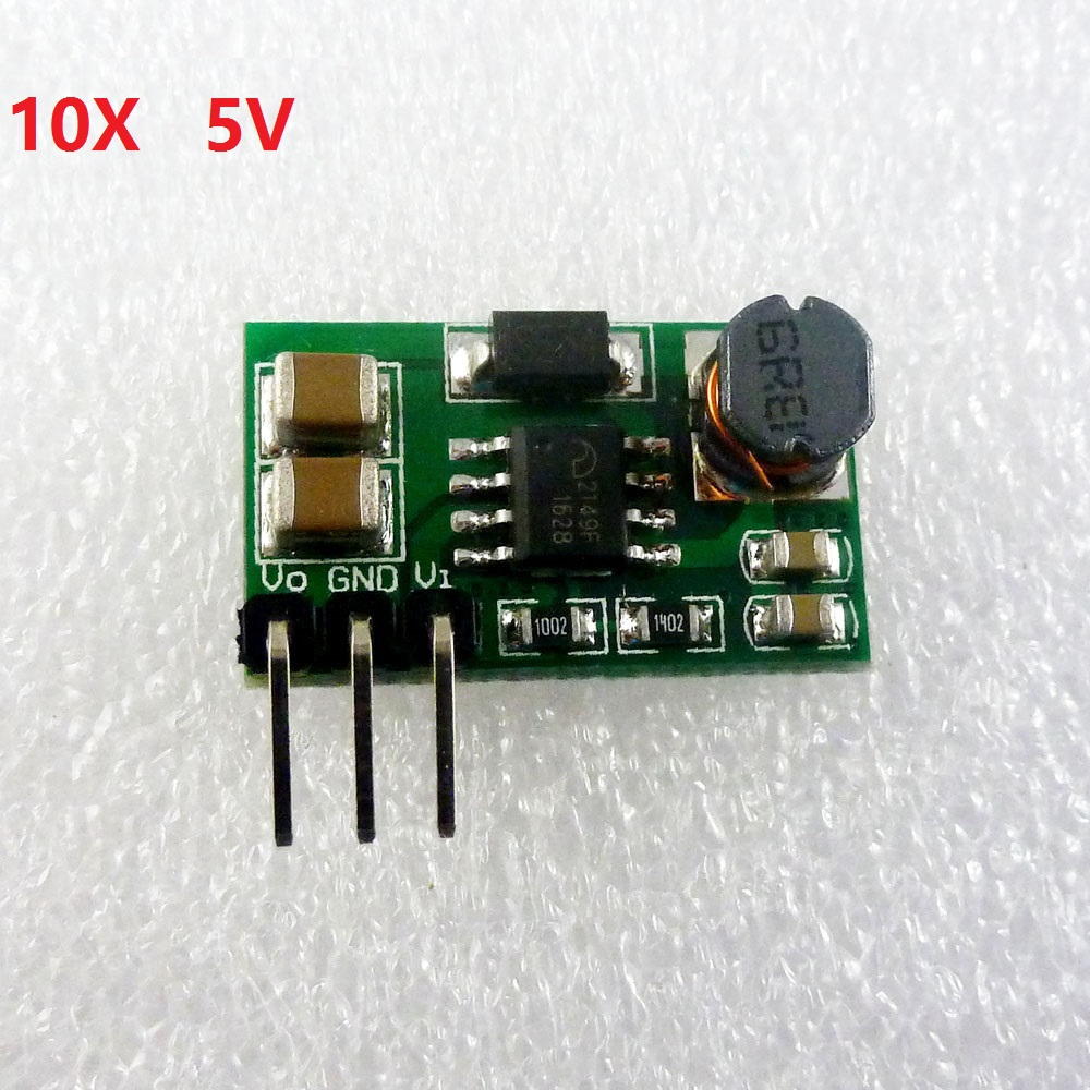 10pcs 800MA 2.5V 3.3V 3.7V to 5V DC DC Converter Step-up Boost Power Supply Module for nodemcu banana pi dht22 sensor