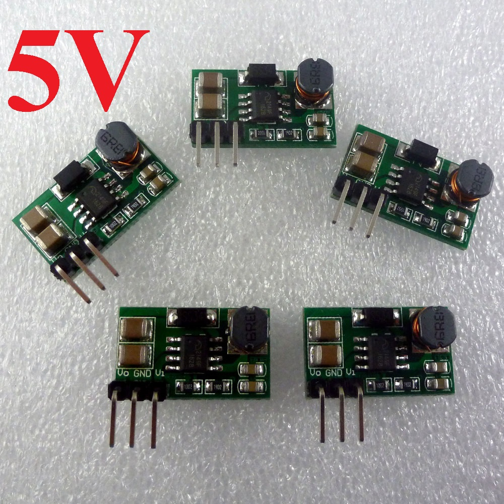 5pcs 800MA 3V 3.3V 3.7V to 5V DC DC Converter Boost Module for Arduino Genuino Breadboard UNO MEGA2560 DUE Pro mini