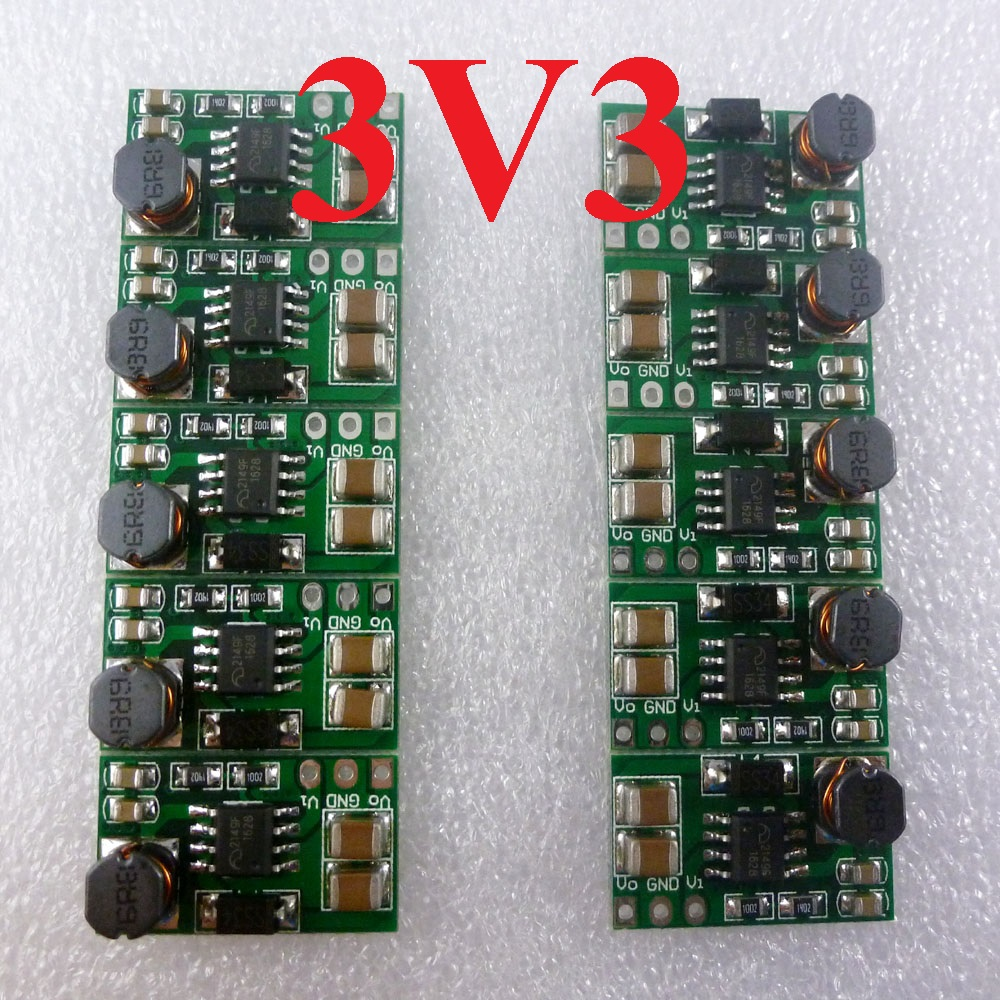 10pcs 1A DD0606SB_3V3 DC DC Converter Input 1.2V 1.5V 1.8V 2.5V Output 3.3V Step Up Boost Module for rtl8710 HC-05 esp8266