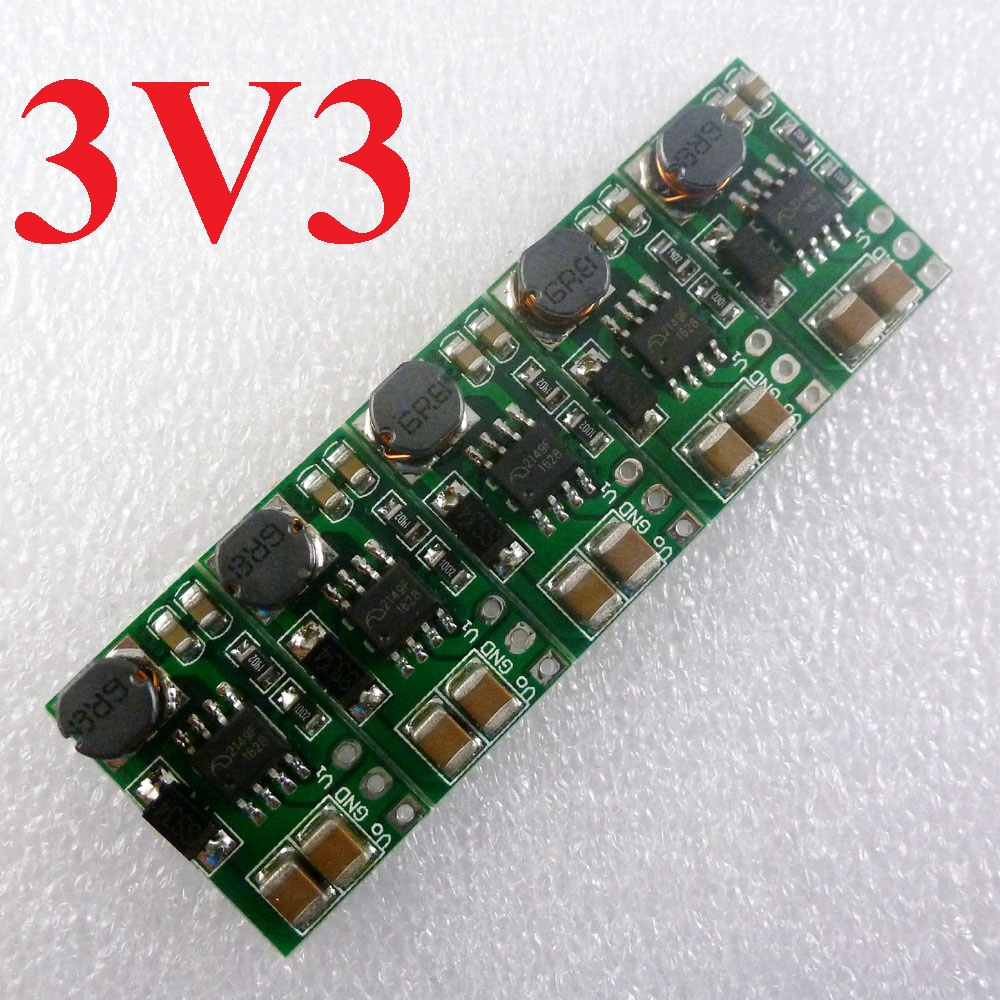 5pcs 1000MA DD0606SB_3V3 DC-DC Converter Input 1-3.3V Output 3.3V Step Up Boost Power Module