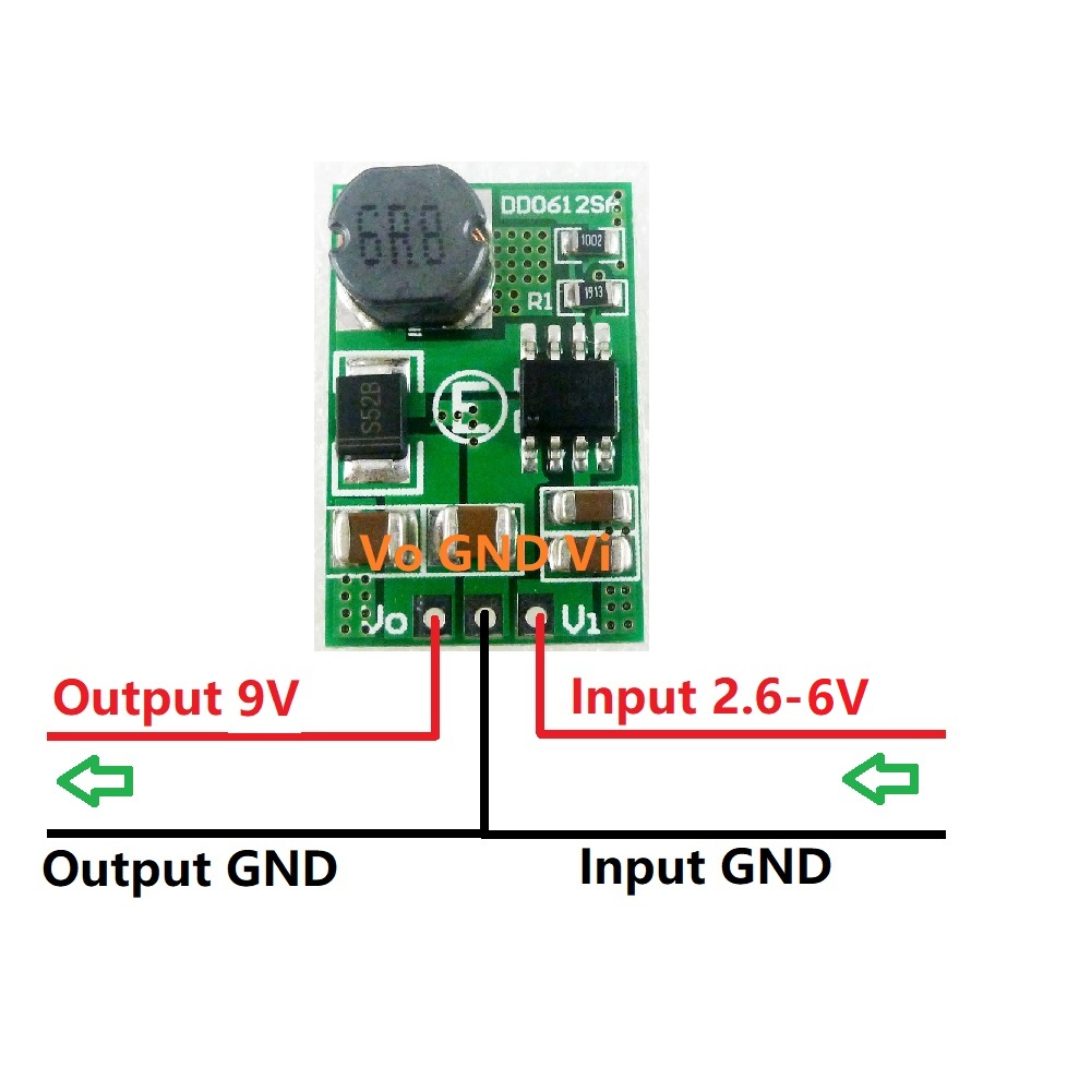 15W 2.6-6V TO 9V DC-DC Step-up Boost Converter Voltage Regulated Power Supply Module Board for Wifi Router