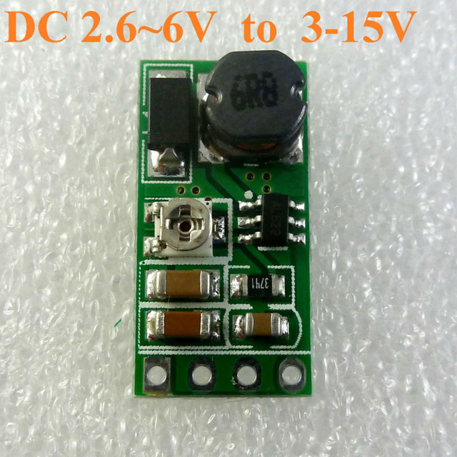 DD06AJSB DC 3 3V 3 7V 5V to 6V 9V 12V Adjustable Step-Up