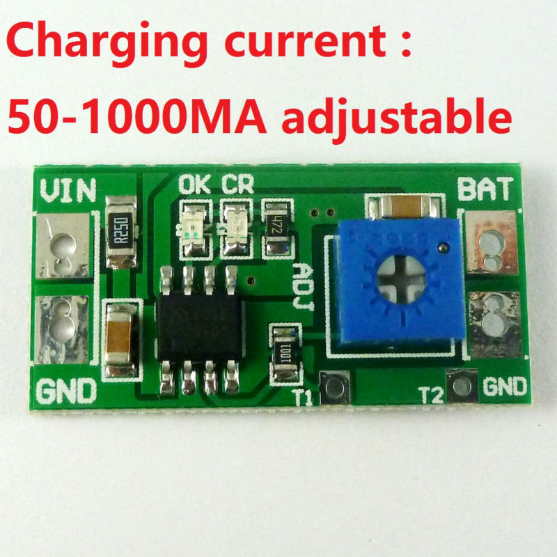 50-1000MA Adjustable 3.7V 4.2V Li-ion Rechargeable lithium Battery Charger Module replace TP4056