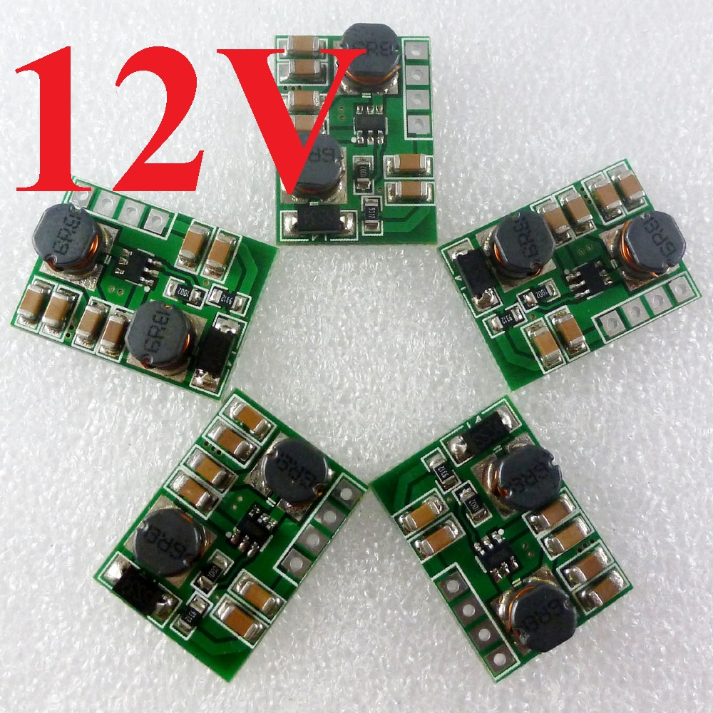 2pcs 7W 2 in 1 Step-UP & Step-Down 3V 3.7V 5V 9V 15V 18V TO 12V DC-DC Converter Regulator Module for PTZ IP camera