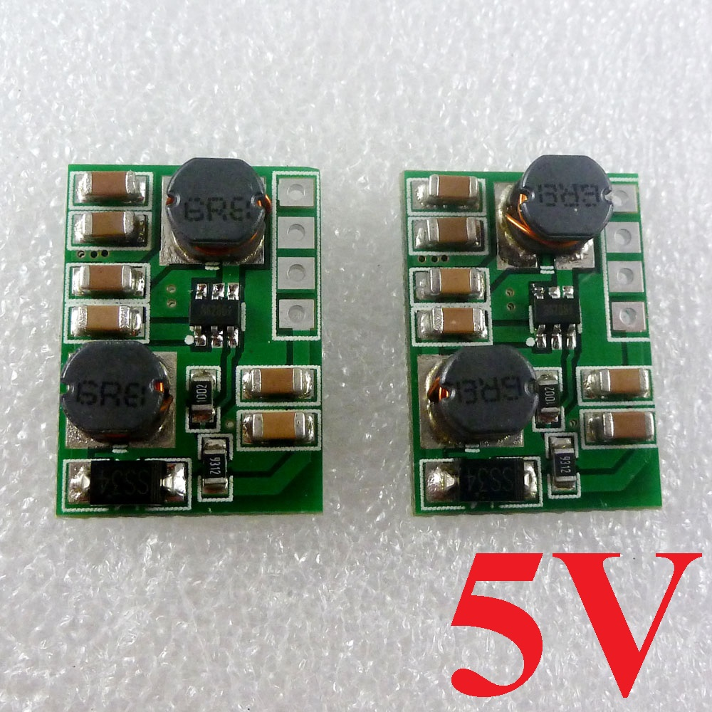 2pcs 2 in 1 DC 3V 3.3V 3.7V 6V 9V 12V to 5V DC/DC Boost-Buck Converter Power Supply Module for Arduino UNO Nano DUE AVR STM32