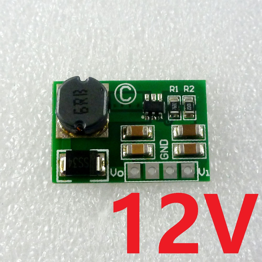 12W DC-DC Converter Boost 2V-12V to 12V Power Supply UPS Module for LED Monitor CCTV PTZ