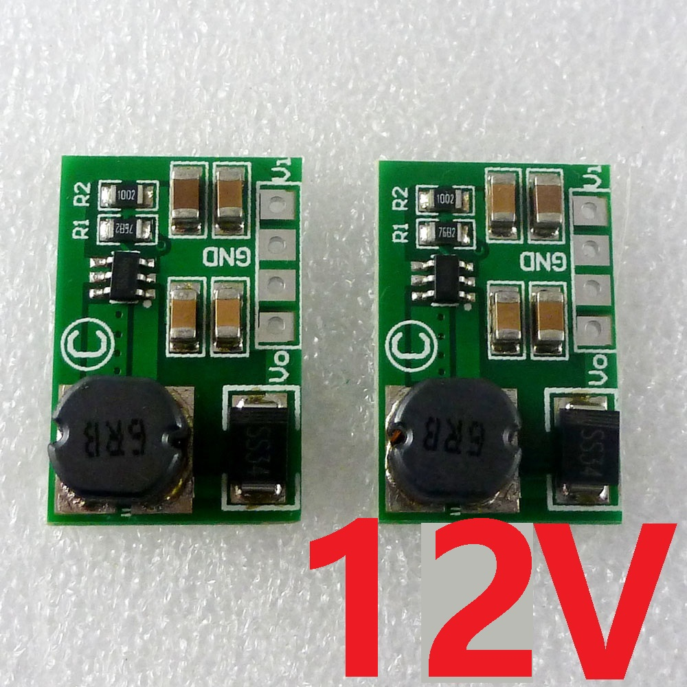 2pcs 12W 3.7V 5V 6V 9V to 12V DC-DC Converter Boost Module for Wifi Ethernet router PTZ IP Camera