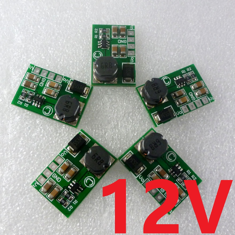 5pcs 12W 2-12V 5V to 12V DC-DC Step-up Converter Boost Module Power Supply Board for Smart home PLC RS485 BUS