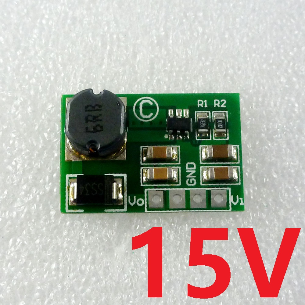 12W DC-DC Converter Boost 3.7V 5V 9V 12V to 15V Power Supply UPS Module for Modem Router
