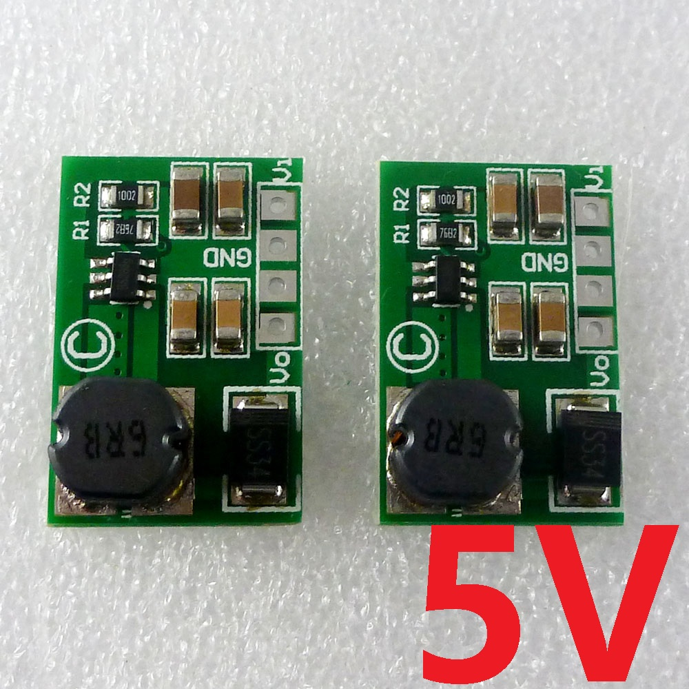 2pcs high-efficiency 8W 2-5V to 5V DC DC Boost Converter for Arduino UNO MEGA2560 DUE AVR STM32 Breadboard MCU Development board
