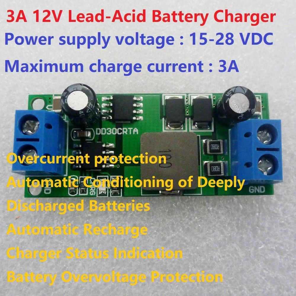 Battery Charger And Discharger Module Lithium Ion Powered By Circuit Solar 3a 12v Lead Acid Input 15 28v Over Charge 148v