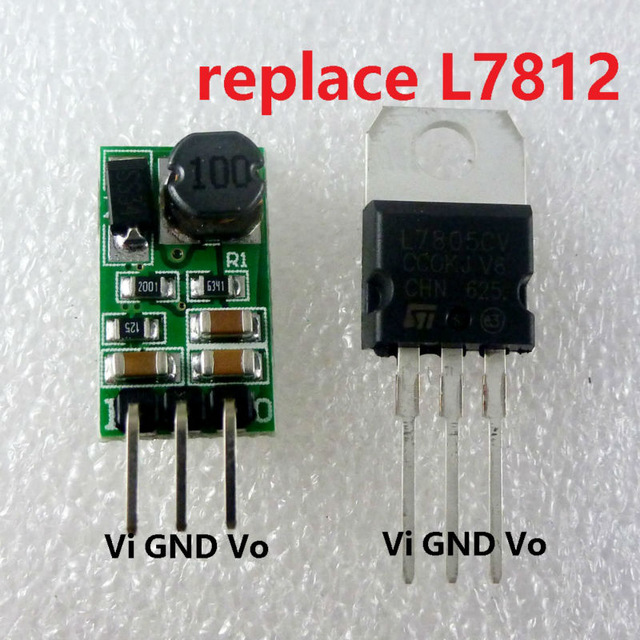 10W 14-40V 24V to 12V Voltage Regulator DC-DC Converter Step-Down Buck Module replace LM7812 L7812 RS485 Relay Wireless Control