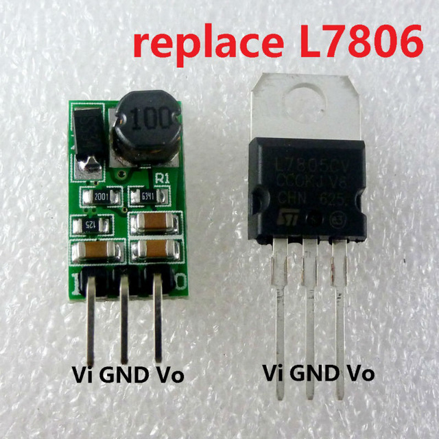 1A DC 7.5-40V 12V to 6V Regulator DC-DC Step-Down Buck Converter Module Board replace LM7806 L7806 TO-220 IC