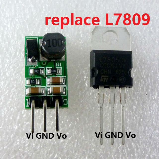 8W DC 12-40V to 9V Voltage Regulator DC-DC Converter Step-Down Buck Module replace LM7809 L7809 TO-220 IC