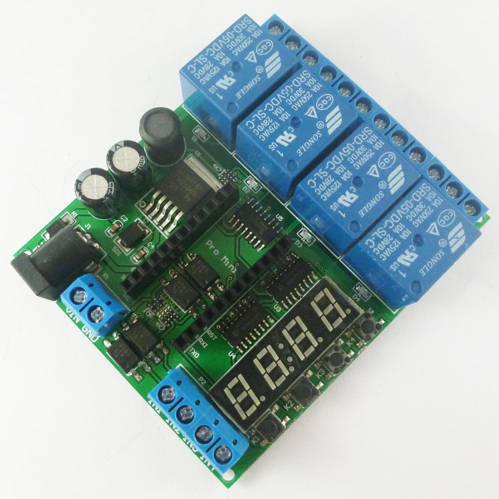 Mcu Relay Controller Switch Arduino Dc 5v 12v 24v 4 Channel Pro Mini Plc Board Shield Module For Delay