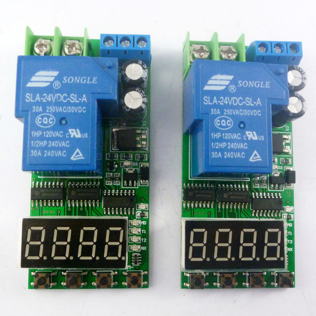 2PCS DC 12V 30A High Power Delay Relay Board ON/OFF Self-locking Momentary Time Switch