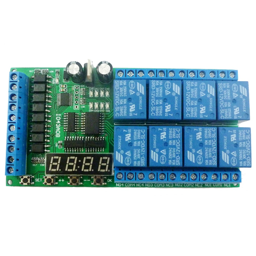 Infrared remote control 5V timer delay relay LED tube display module f Arduino