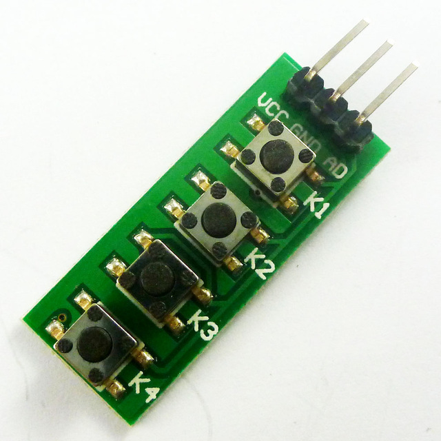 3 3V 5V KC11B04 4 key Analog Buttons AD Keypad Board ADC