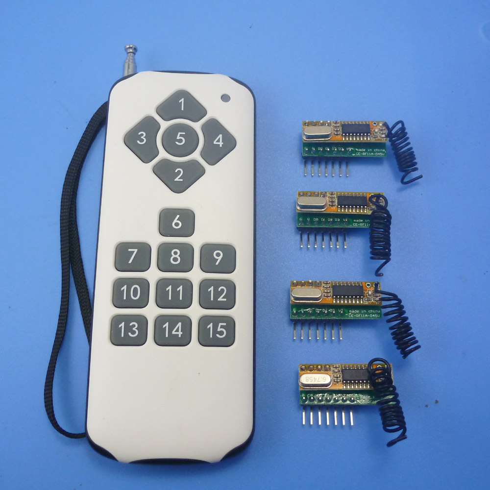 15 channels ASK OOK Wireless Switch DC5V Wireless Control Kits RF Link Control