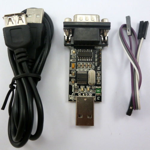 2 in 1 USB COM Port DB9 TTL232 RS232 TTL 232 CH340T USB2.0 Cable Adapter