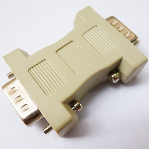 Serial RS232 Com Port Adapter DB9 Male to Male DB9 Gender Changer Coupler