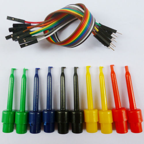DIY 2.54mm Pin Male Plug to EZ-Hook Gripper Probe Cable For Breadboard Arduino
