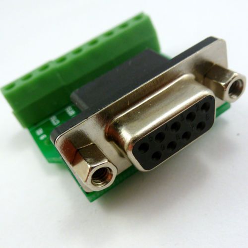 DB9 D-SUB DE9 Female Adapter to 9 Pin Board RS232 UART Terminal Breakout Board