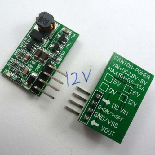 2PCS with ON/OFF DC 3.3V 3.7V 4.2 5V to 12V Step-up Boost Converter Power Supply
