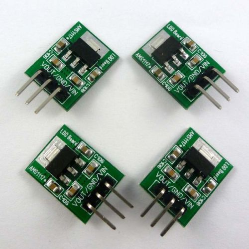 4p DC 5V to 3.3V AMS1117 Step-Down Buck Module for CC1101 NRF24L01+ 2.4G 433M RF
