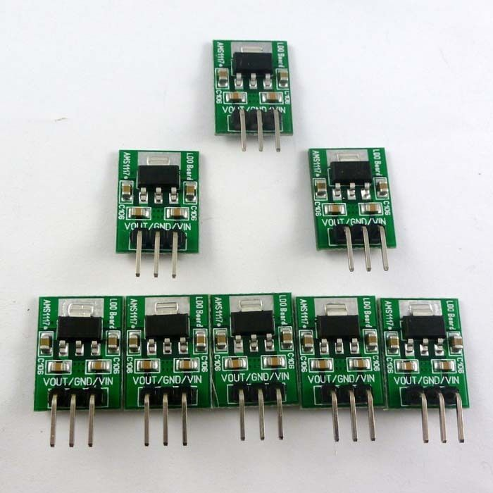 8PCS DC 7-4.5V to 3.3V AMS1117-3.3V Step-Down Buck Module for Arduino STM32 AVR