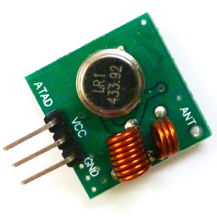 3 Pins 433.92MHZ Wireless Transmittter Modules 3.5-12V 10-15mA 10mW