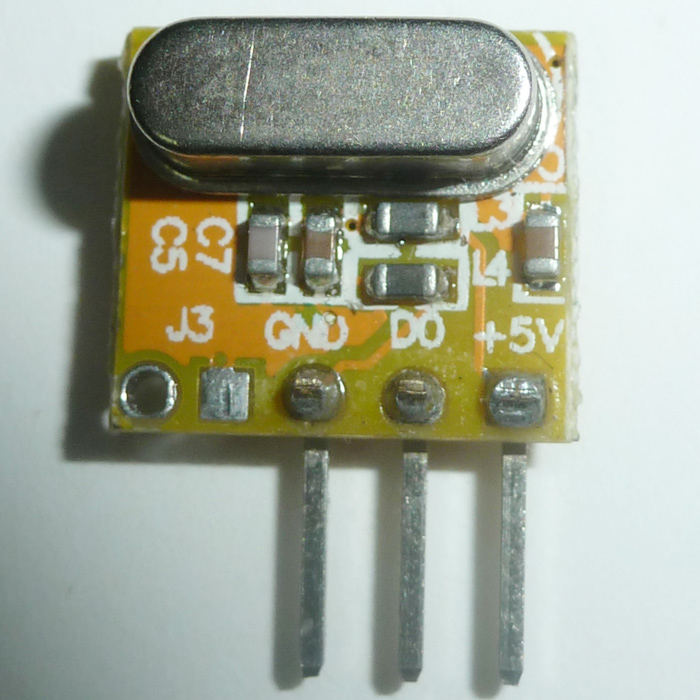 12*10.5mm ASK Wireless RX Receiver Modules 5V 433MHZ -108dBm Super heterodyne