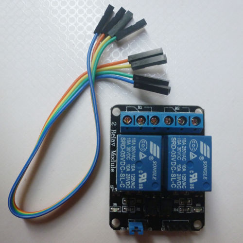 2 Channels Relay Module DC 5V With Optocoupler For Arduino PIC ARM AVR DSP