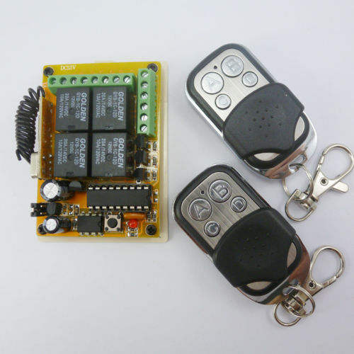 DC12V 433MHz HCS301 Rolling Code Wireless Remote Relay Receiver Controller