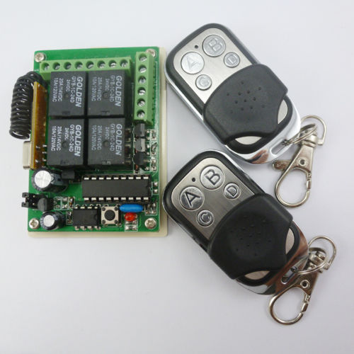 DC24V RF Wireless Remotes Key 433MHZ HCS301 Rolling Code Relay Receiver Board