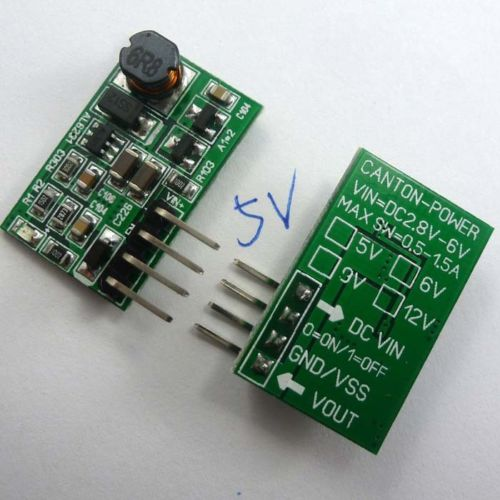 2PCS DC 3V 3.3V 3.7V 4.2V to 5V with ON/OFF Switch Step-UP Boost Module ARDUINO