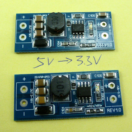 2pcs Mc34063 Switching Regulator DC 12V 9V 6V 5V to 3.3V Buck Step Down Module