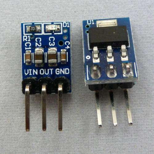 2pcs DC DC Converter 5V to 3.3V Step-Down Buck Power Supply Module AMS1117 LDO