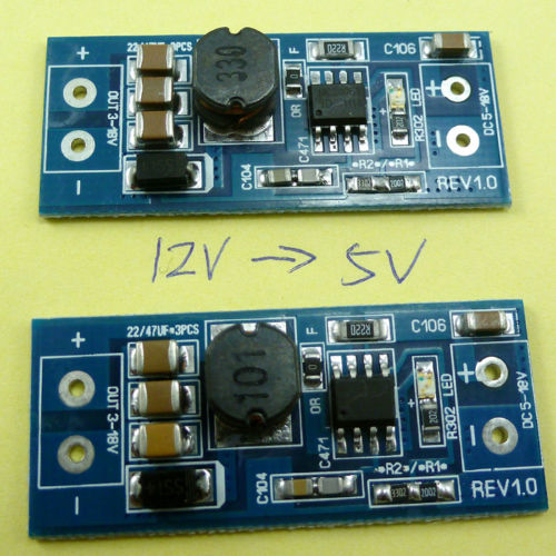 2pcs Small Size!! DC-DC 12V to 5V Step Down Buck Power supply Module Arduino MCU
