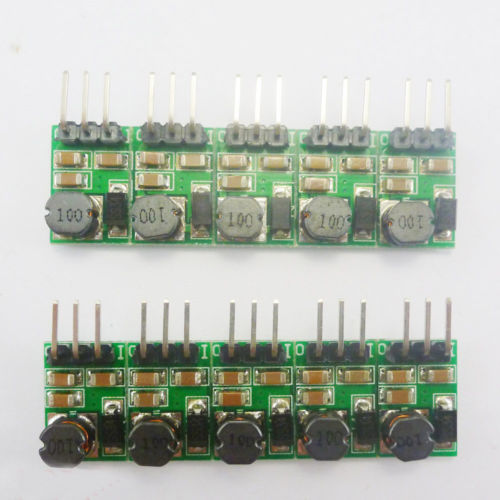 10p Small Size 2.54mm Plug 5W DC-DC 5V-36V to 5 12V 24v Adjustable Power Module